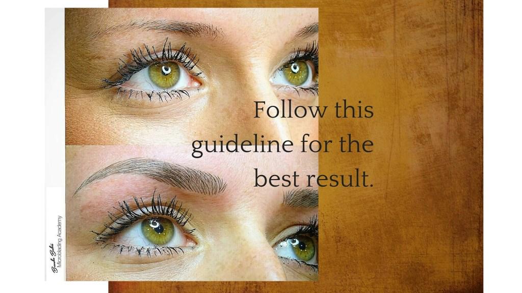 eyebrow tattoo care