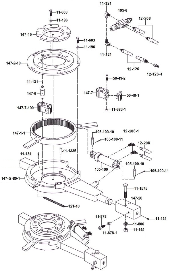 147 Backup for Foster 58-93R Exploded Drawing:: USA Oil
