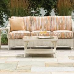 Outdoor Swivel Rocker Chair Sling Beach Lloyd Flanders Nantucket Collection | Loom Wicker Furniture