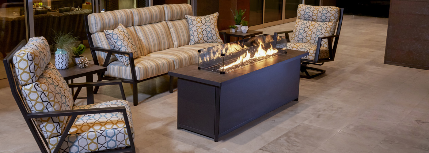 OW Lee Metrop Fire Pit Tables  OW Lee Modern Aluminum