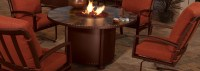 OW Lee Santorini Fire Pit Tables | USA Outdoor Furniture