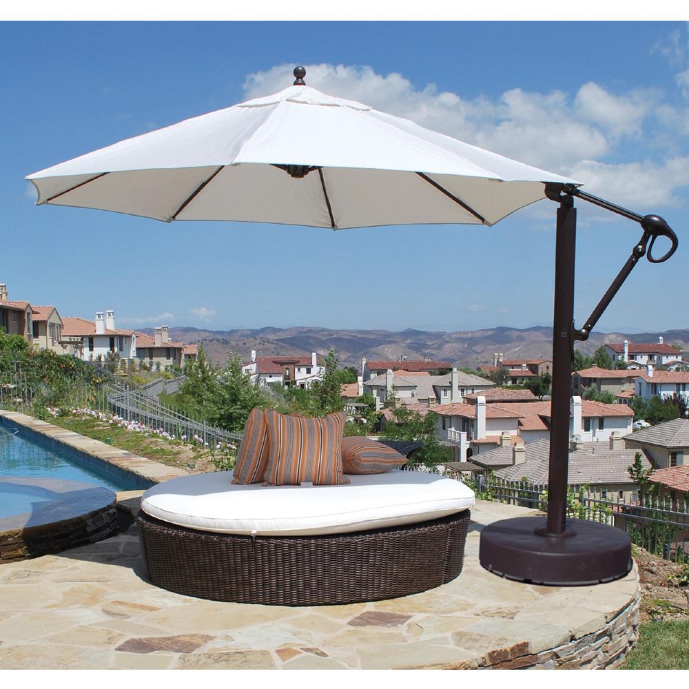 Galtech Aluminum 11' Cantilever Umbrella With Easy