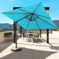 Galtech Aluminum 10' x 10' Square Cantilever Umbrella with ...