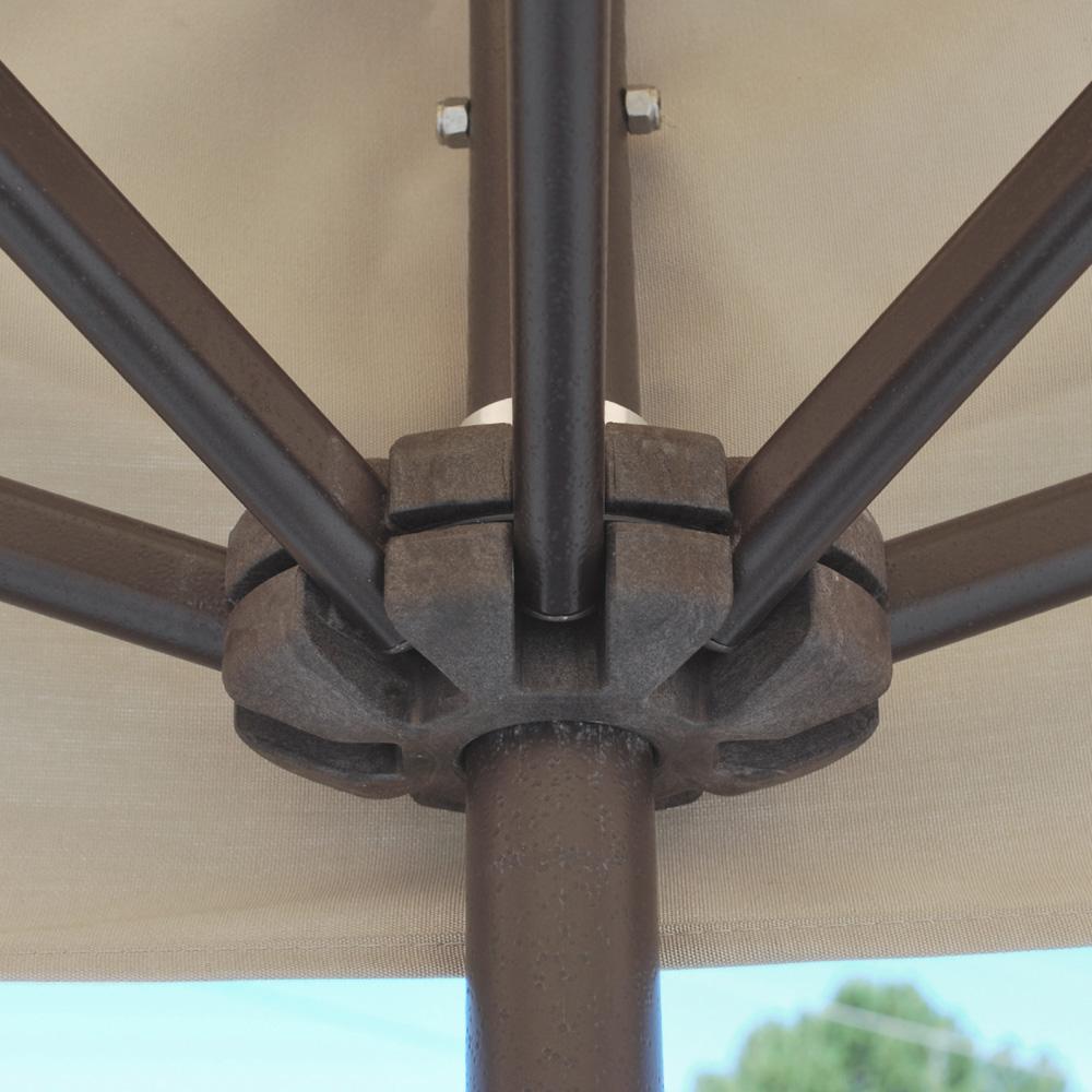 Galtech Aluminum 3.5' X 7' Rectangle Wall Umbrella 772