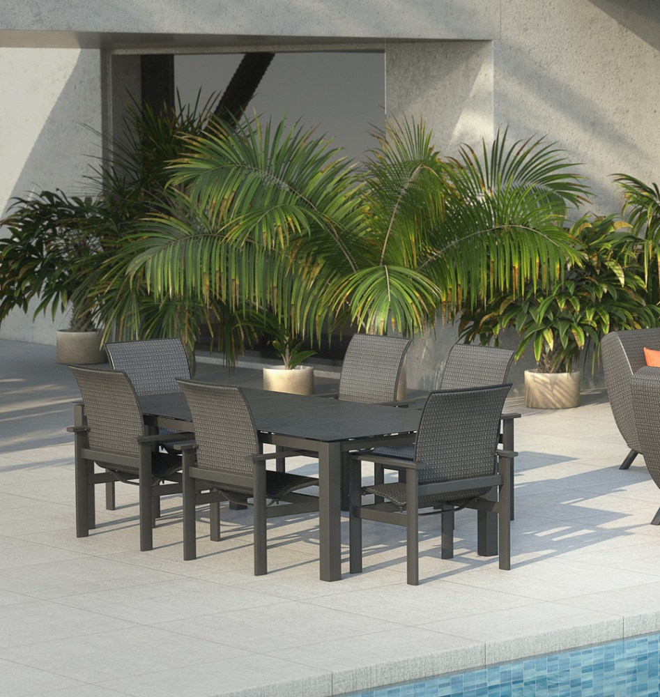 Homecrest Elements Modern Patio Dining Set Hc-elements-set2