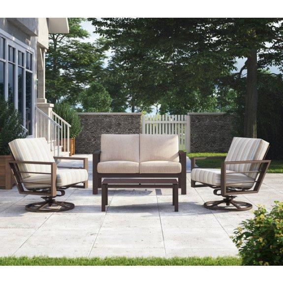 homecrest sutton loveseat and swivel rocker lounge chair patio set