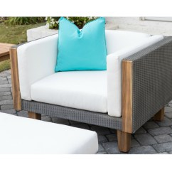 Wicker Chair Cushion Replacements Oversized Folding Quad Lloyd Flanders Catalina Sectional With Teak Accents | Lf-catalina-set6