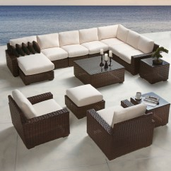 Cushion Sofa Set Ikea Knopparp Full Patio Furniture Lloyd Flanders Contempo Large Sectional Lf Set6