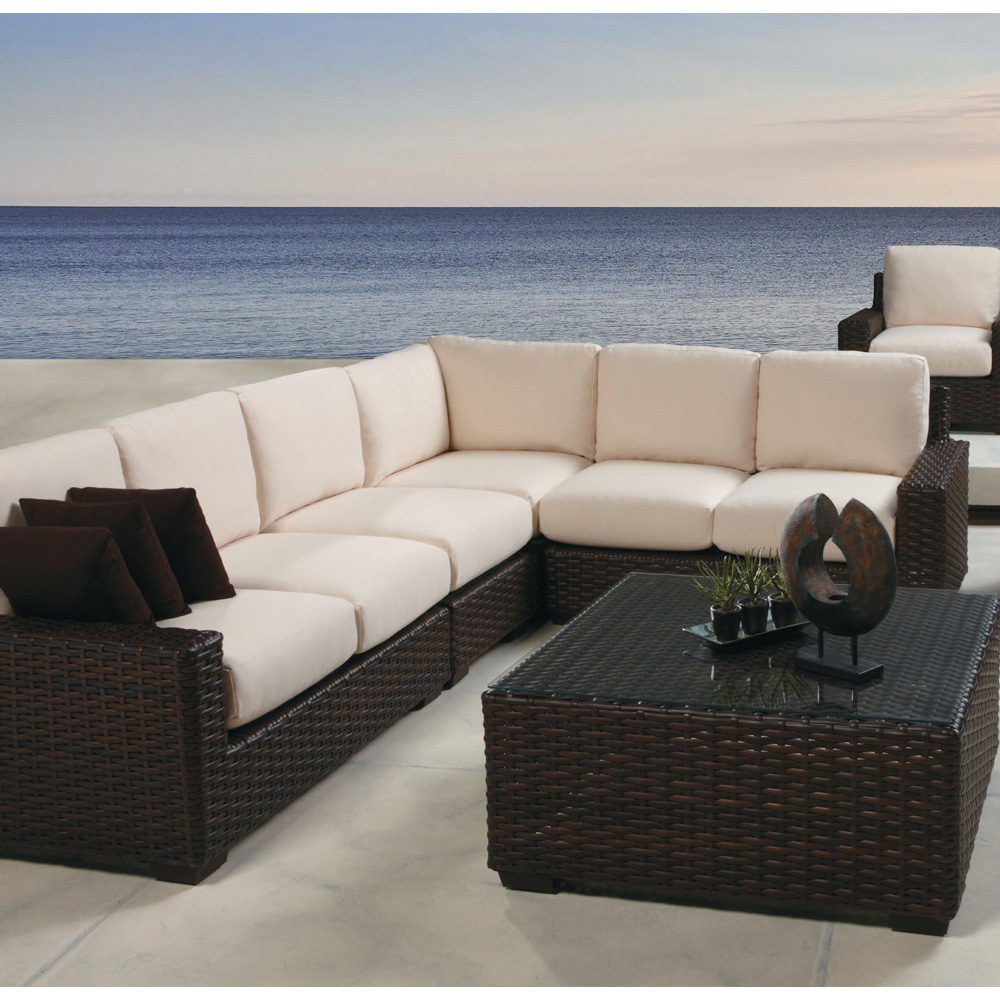 Lloyd Flanders Contempo Wicker L-shaped Sectional Set Lf