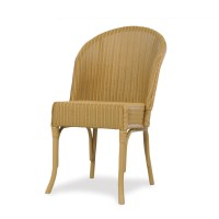 Lloyd Flanders Round Back Wicker Dining Chair