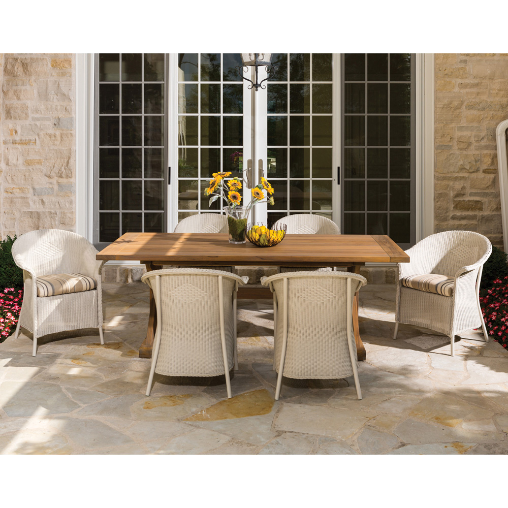 Lloyd Flanders Wicker Dining Chair With Curved 8007