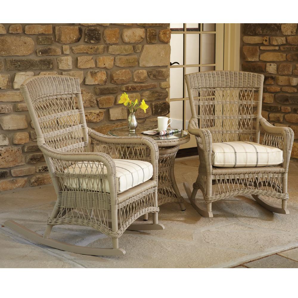 vinyl wicker chairs ergonomic chair lloyd flanders fairhope porch rocker set lf set5