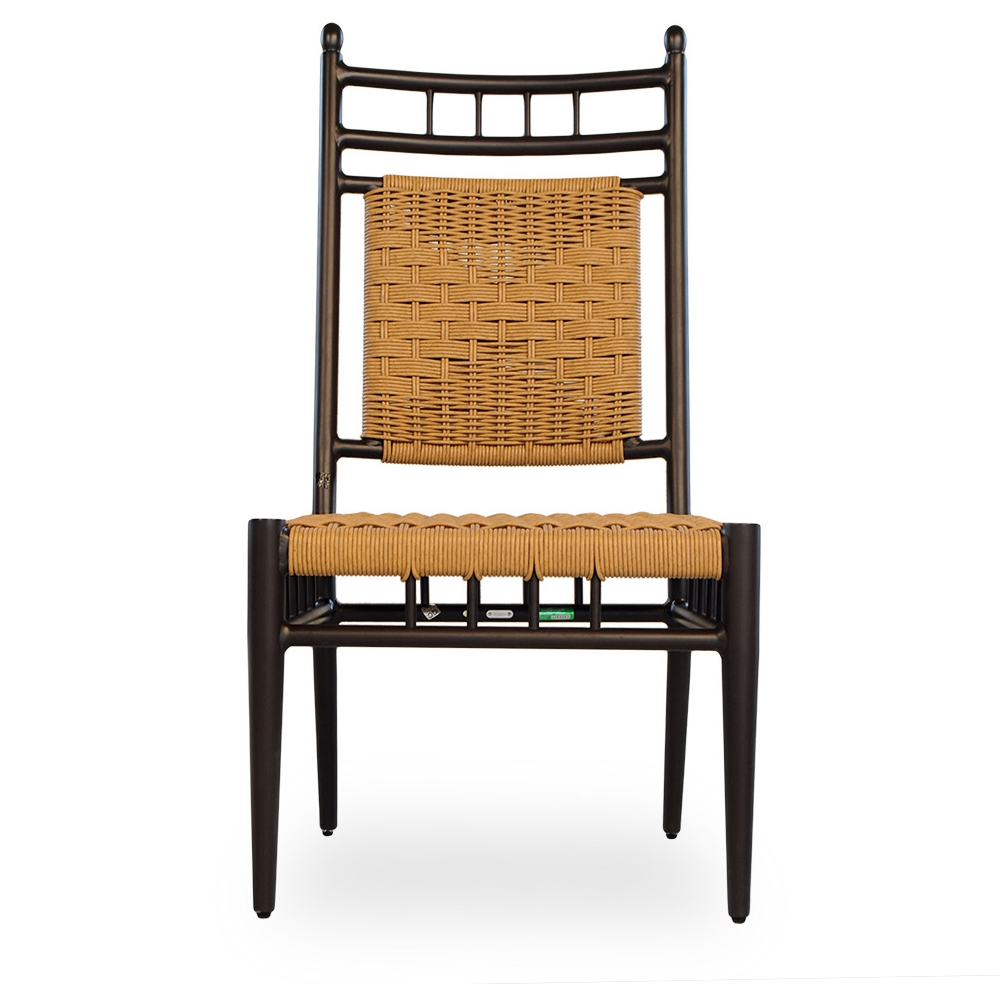 vinyl wicker chairs wheelchair buy lloyd flanders low country woven dining side chair 77007