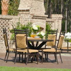 Vinyl Wicker Chairs Small Portable Chair Lloyd Flanders Low Country Woven Dining Side 77007