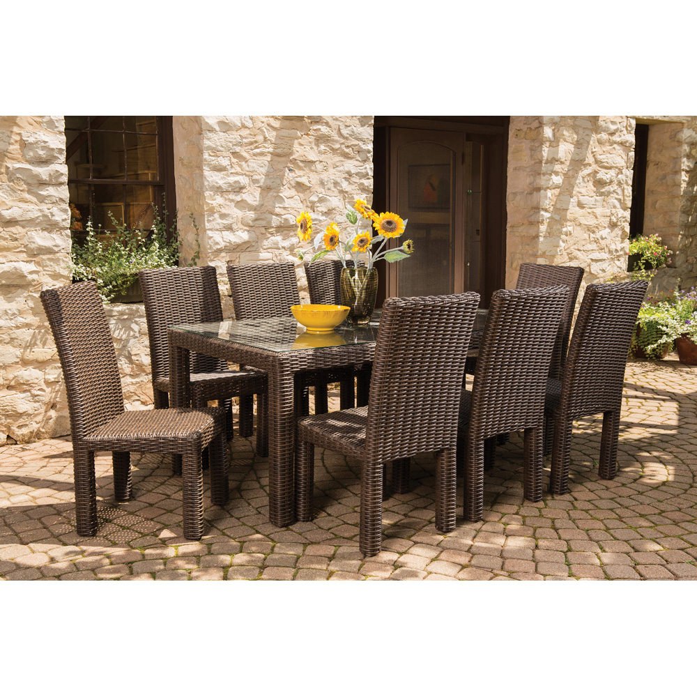 Outdoor Patio 9 Piece Dining Set