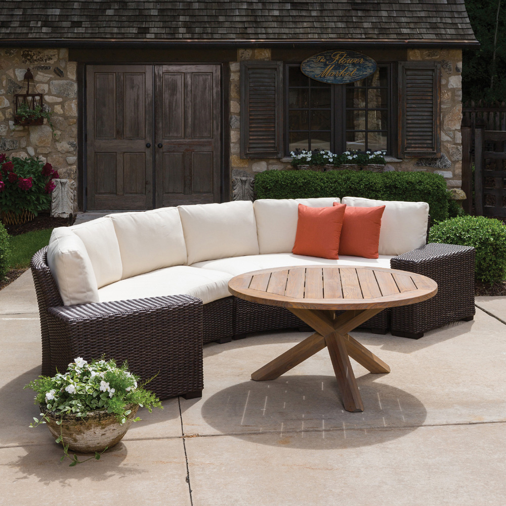 Outdoor Patio Furniture Curved Sectional Sofa