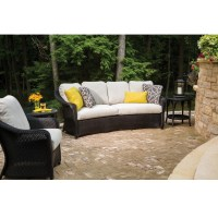 Lloyd Flanders Reflections Loom Wicker Patio Set with