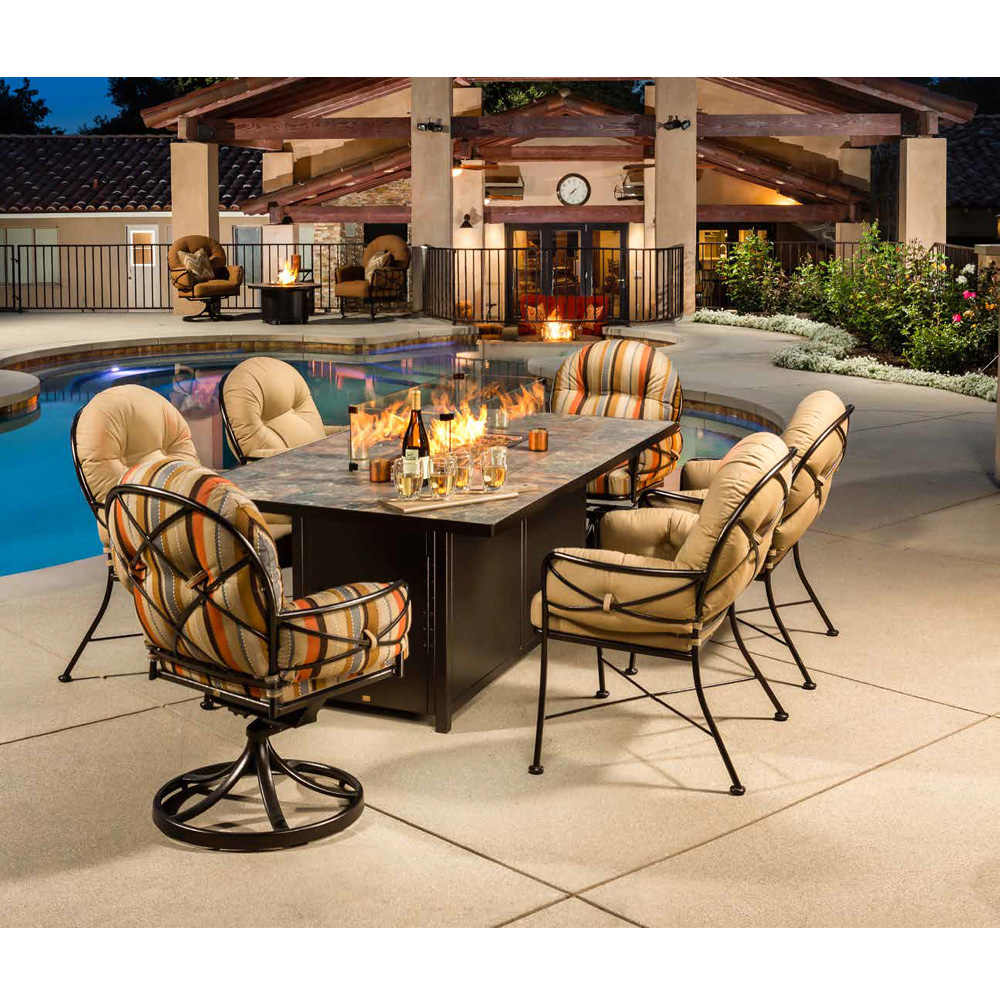 ow lee cambria wrought iron dining set