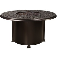 """OW Lee Hacienda 54"""" Round Dining Height Fire Pit Table ..."""
