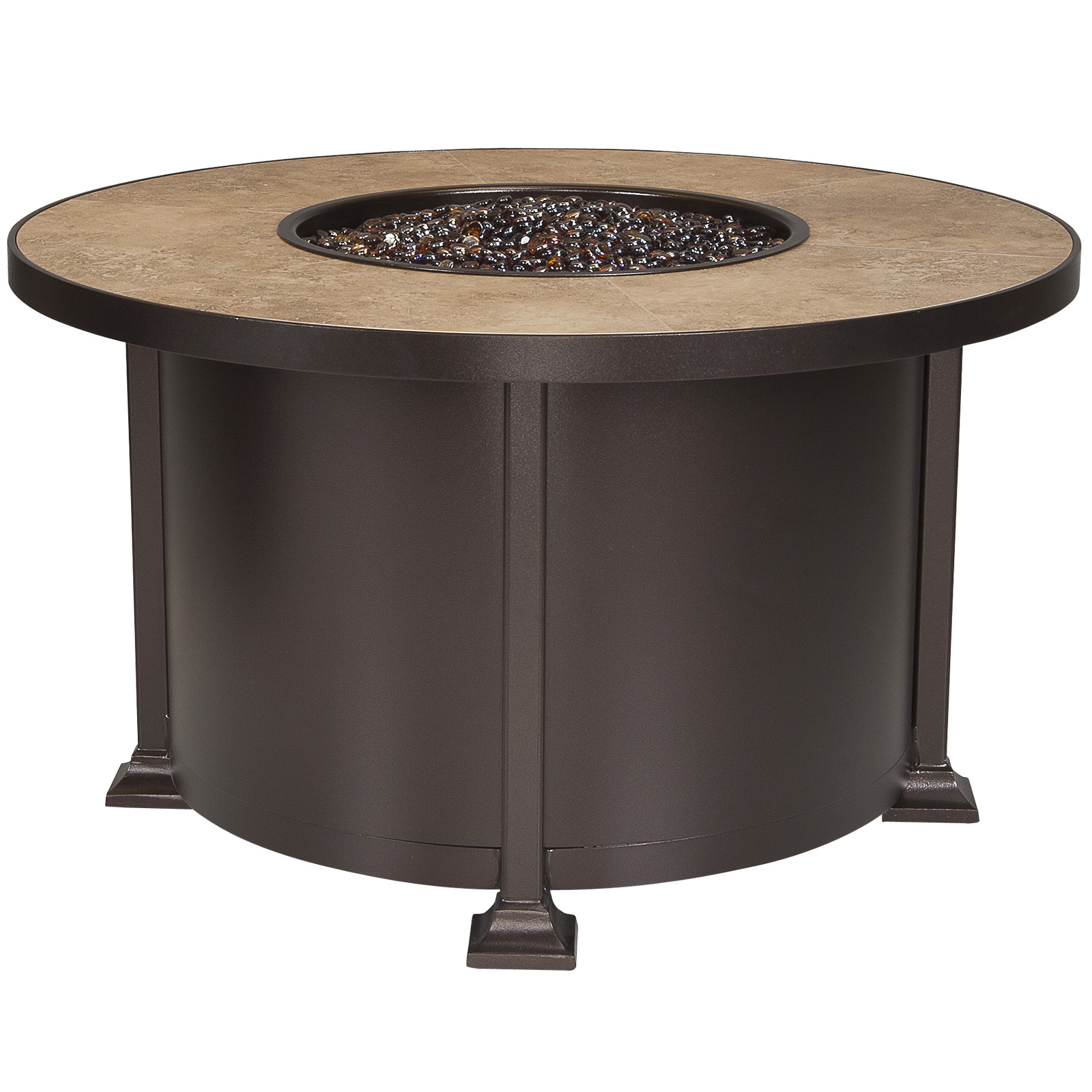 OW Lee Vulsini 36 x 58 Rectangle Chat Height Fire Pit