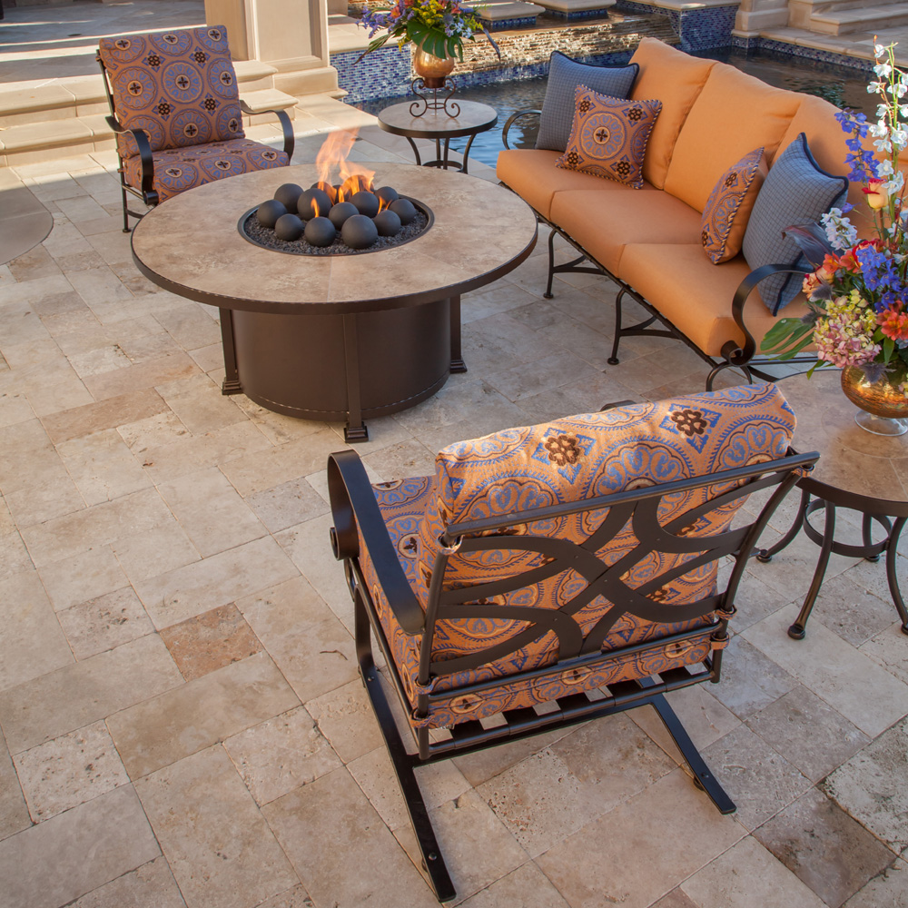 "Ow Lee 54"" Santorini Occasional Height Fire Pit"