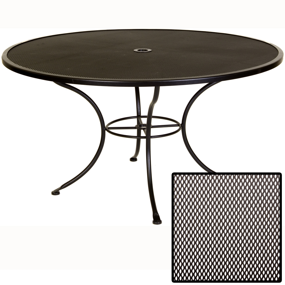 OW Lee Micro Mesh 54 inch round Dining Table  54MMU