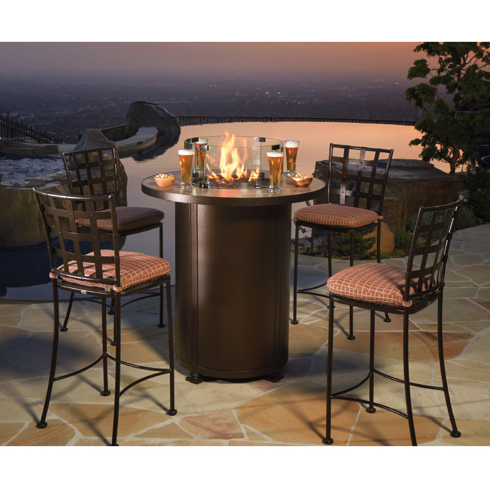 """Ow Lee Santorini 36"""" Counter Height Fire Pit Table"""