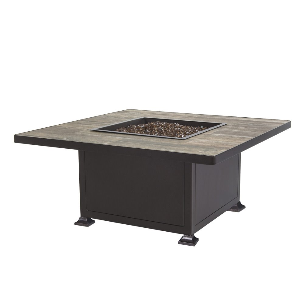 "Ow Lee Santorini 54"" Dining Height Fire Pit Table"