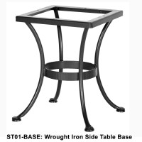 OW Lee Standard Wrought Iron Side Table Base | ST01-BASE