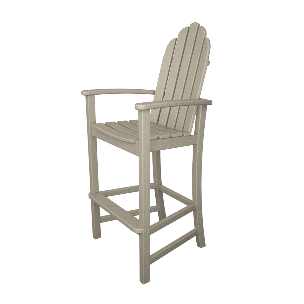 polywood classic adirondack chair over the mannequin stand bar add202