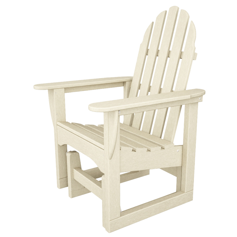 polywood classic adirondack chair outdoor porch chairs glider adsgl 1