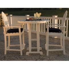 Polywood Classic Adirondack Chair Outdoor And Ottoman Cushion Sets Bar Set Pw Set2