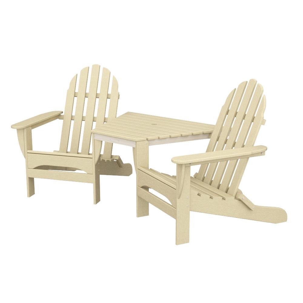 tete a chair outdoor ergonomic and ottoman polywood classic adirondack tt4040