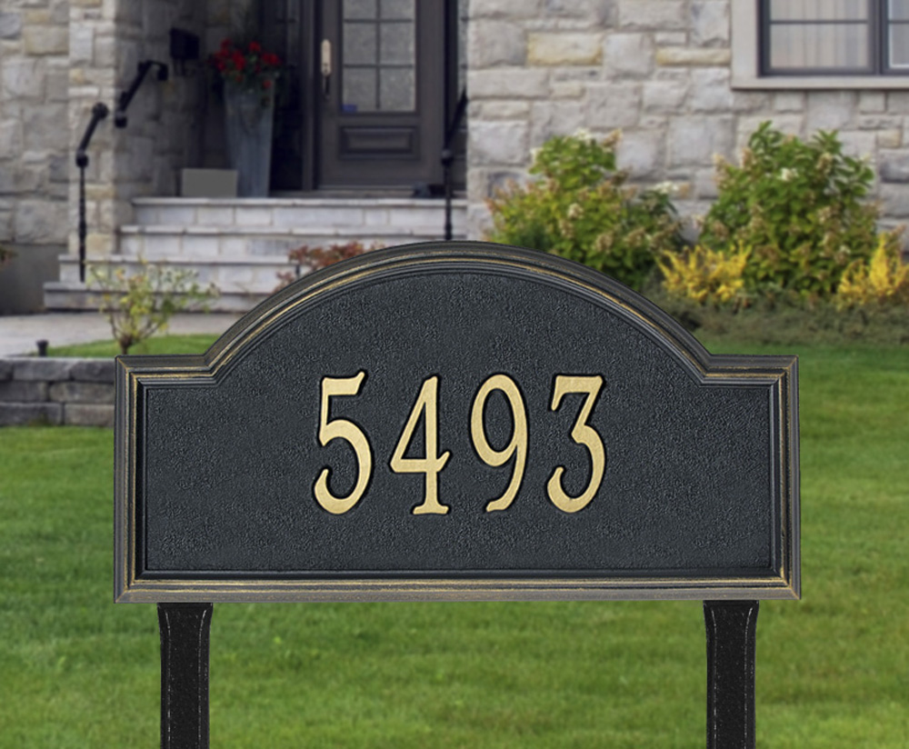 Whitehall Providence Arch Estate Lawn Address Plaque