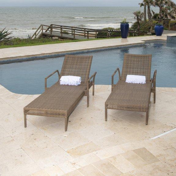 Woodard Weather Wicker Miami Stacking Adjustable