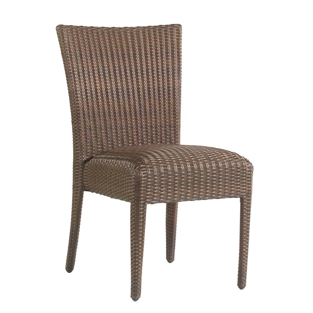 Woodard Weather Wicker Padded Dining Arm Chair S593801