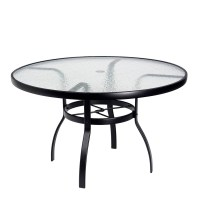 "Woodard Deluxe 36"" Round Glass Top Dining Table 