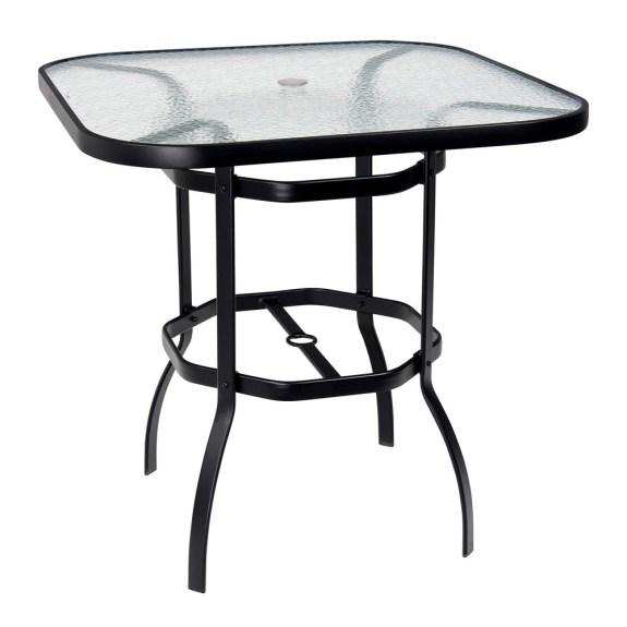 Woodard Deluxe 42 Square Glass Top Bar Table  826538W