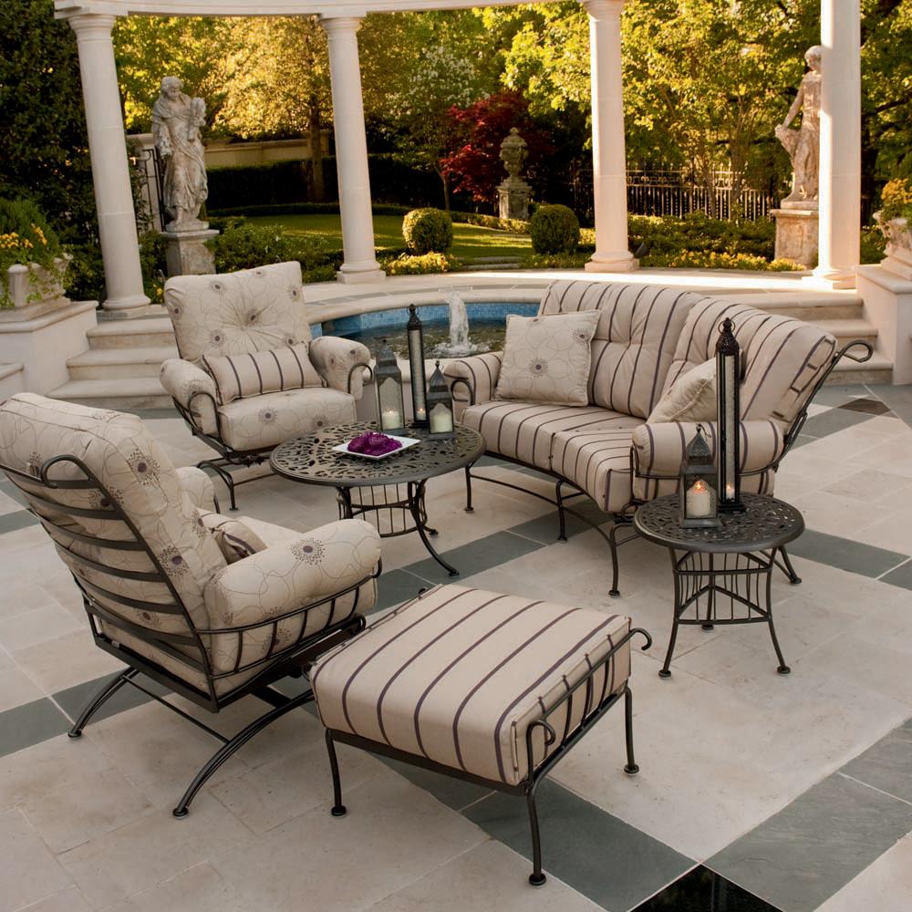 Woodard Canaveral Modern Wicker Outdoor Lounge Set Wd