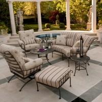 Woodard Terrace Wrought Iron 6 Piece Patio Furniture Set ...