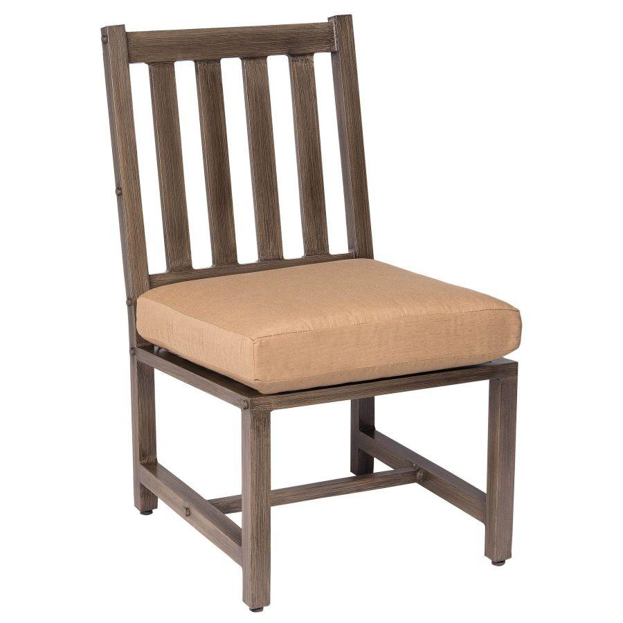 Woodard Weather Padded Wicker Dining Side Chair S593811