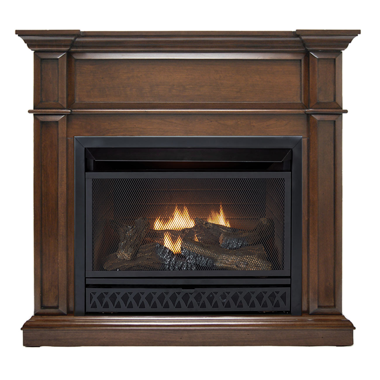 HearthSense Ventless Fireplace System with Dual Fuel Technology