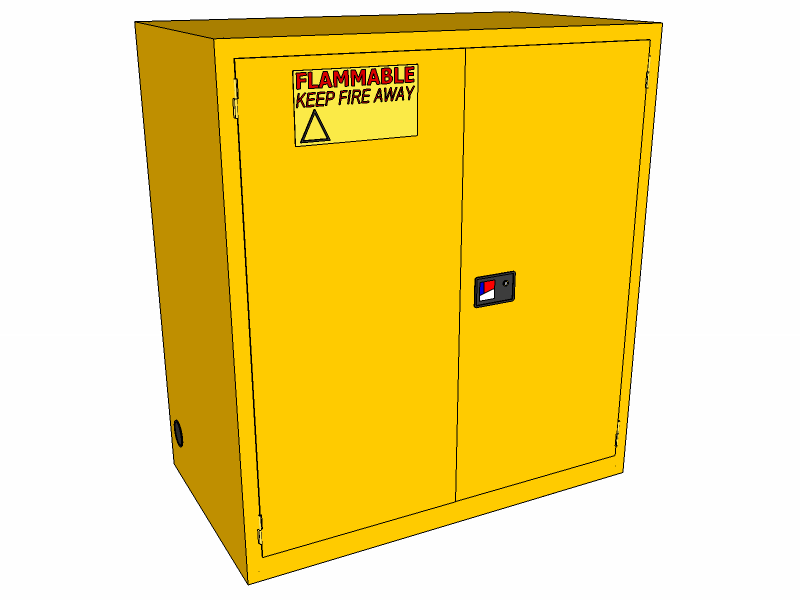 Flammable Storage Cabinet, 120 Gallons, CBBM120JP