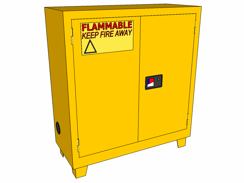 Flammable Storage Cabinet Forklift 30 Gallons CBFM30JP