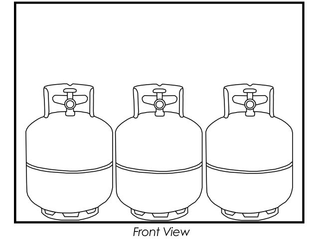 Gas Cylinder Cage, 6 Propane Tanks (20lb), Outdoor