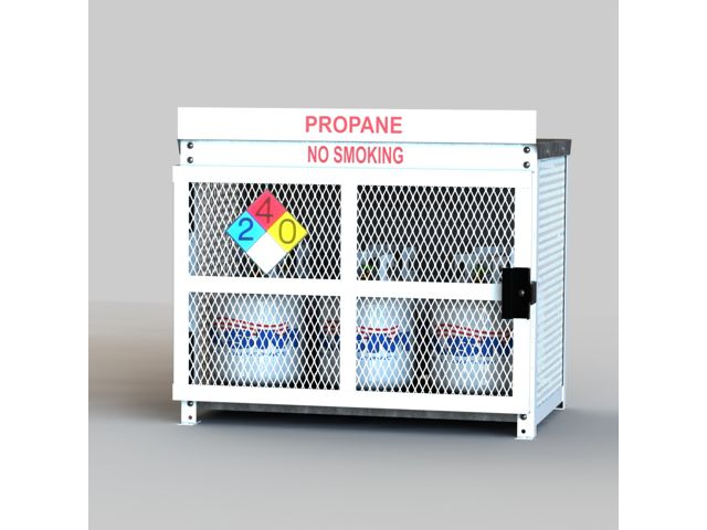 Gas Cylinder Cage 6 Propane Tanks 20lb Outdoor