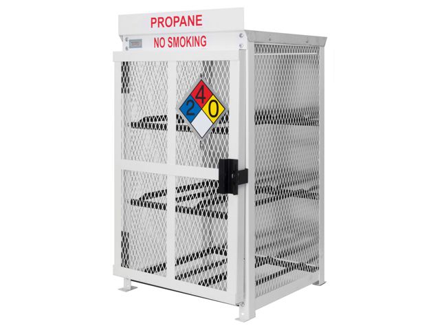 Gas Cylinder Cage 6 Propane Tanks 33lb Outdoor