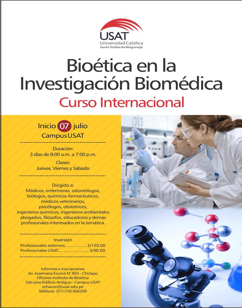 Curso Internacional: Bioética en la Investigación Biomédica