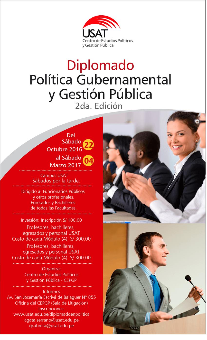 Diplomado: Política Gubernamental y Gestión Pública