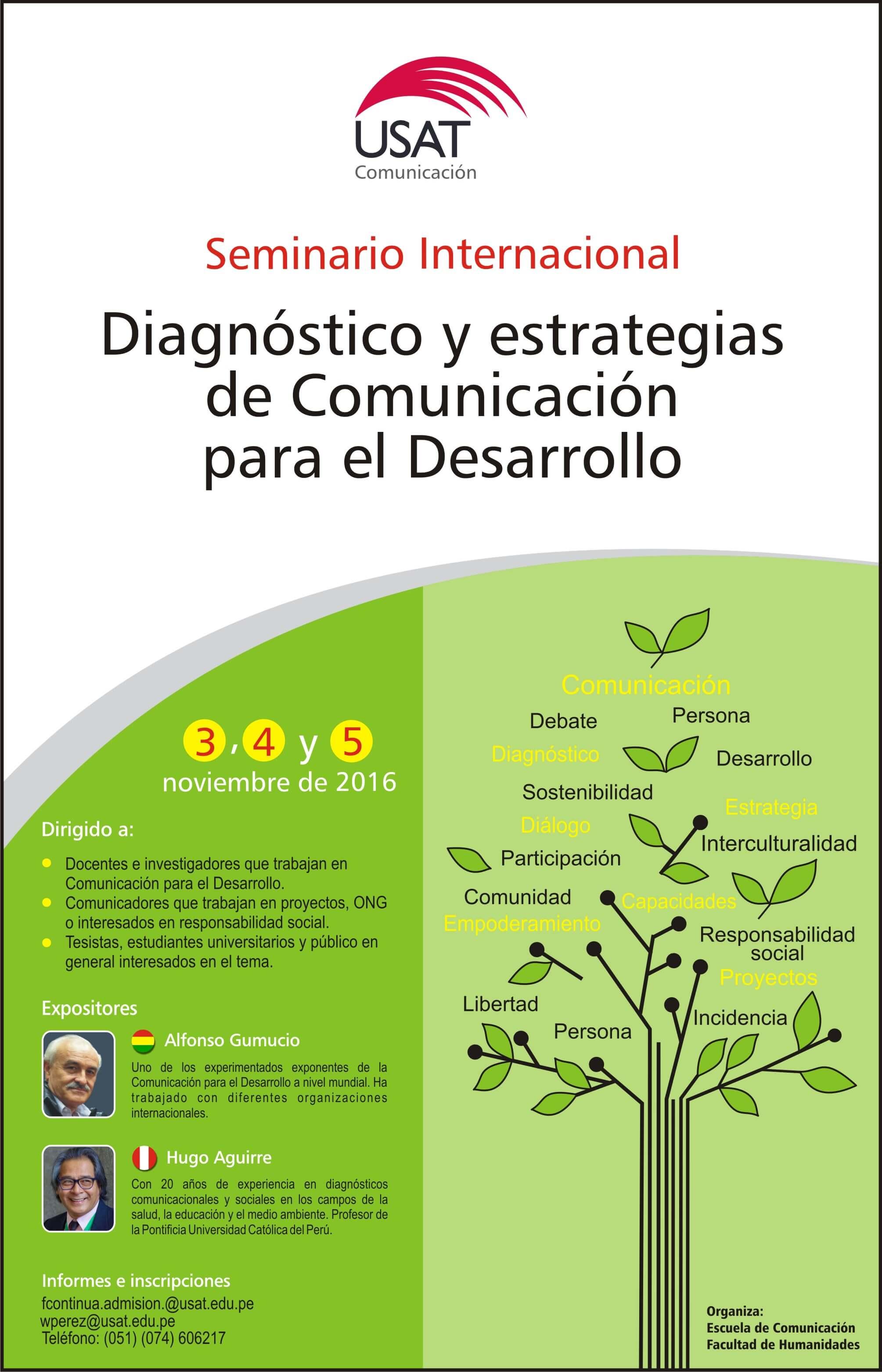 Seminario Internacional. Diagnóstico y estrategias de Comunicación para el Desarrollo